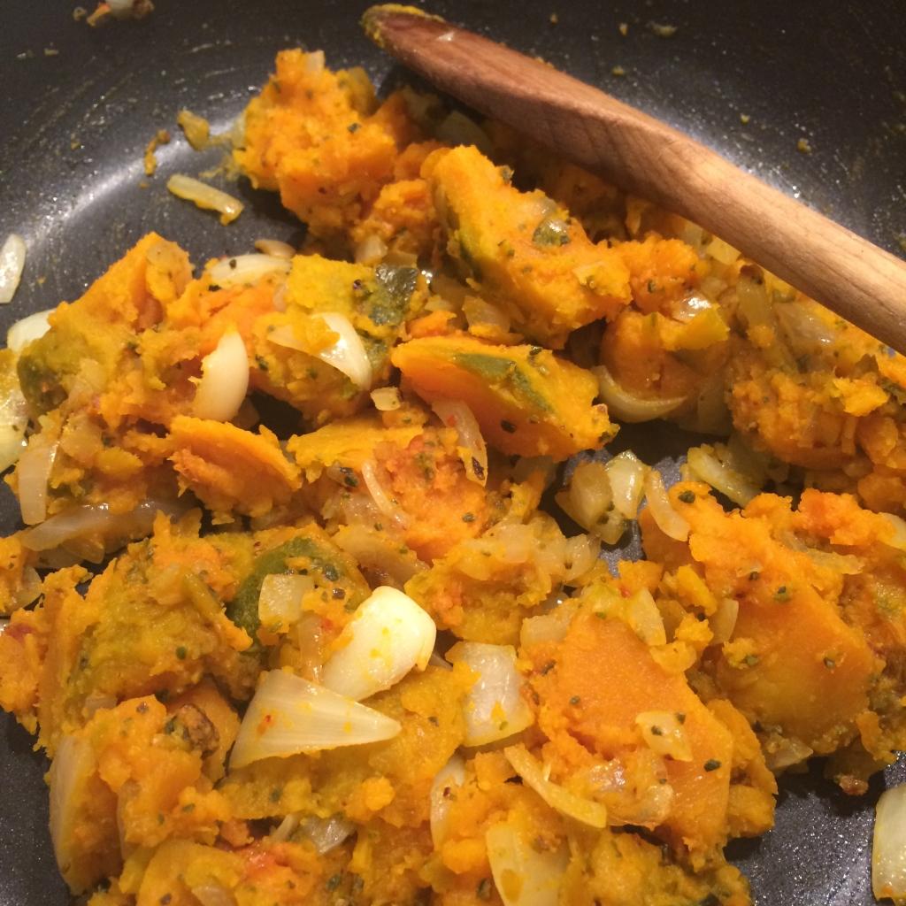 Pumpkin, onion & spices mix