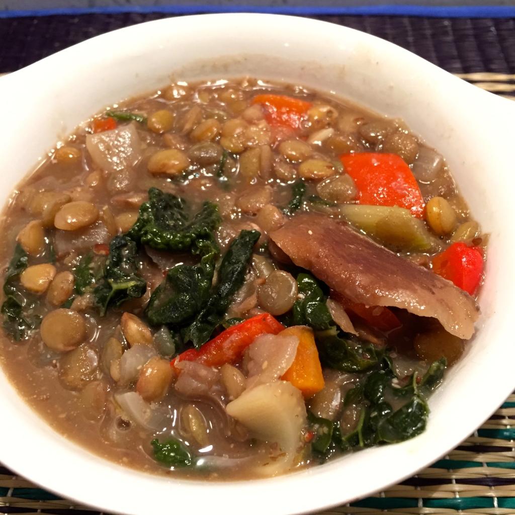 Smokey Lentil & Kale soup